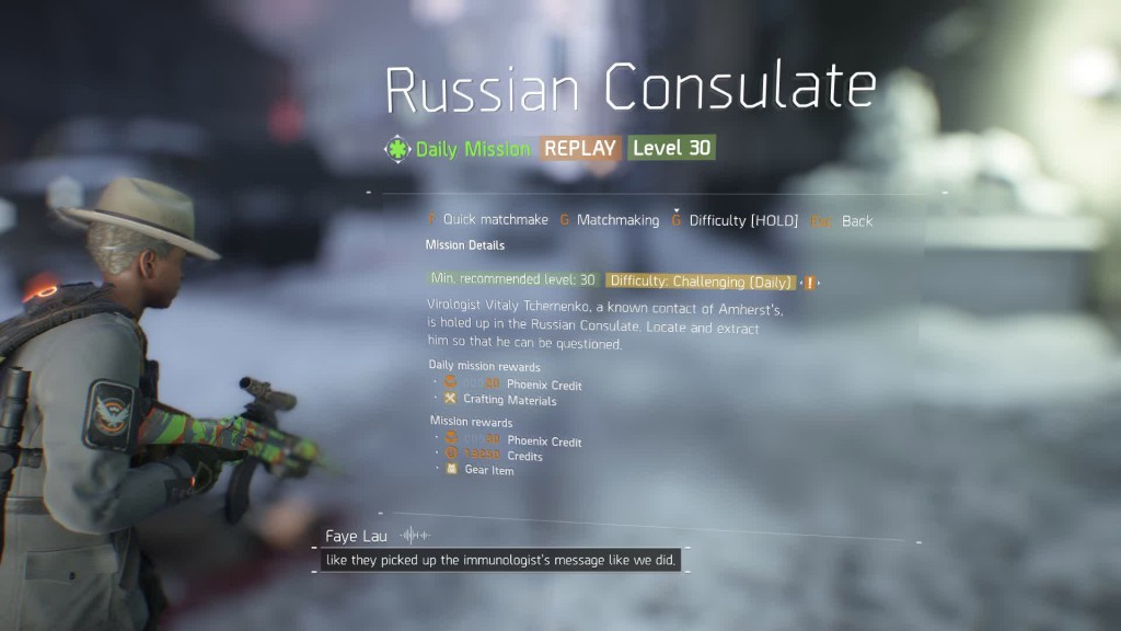 division russian consulate challenge mode