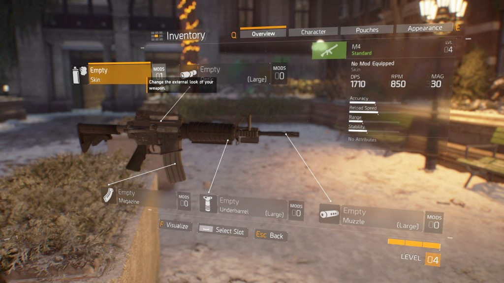 division weapon mods