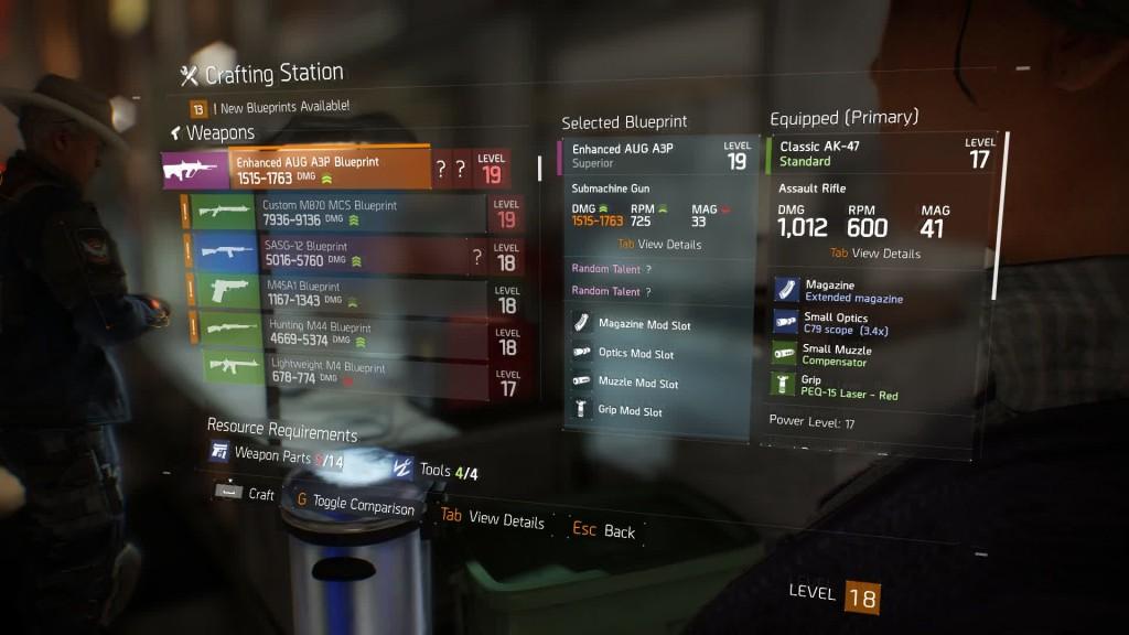 weapon gear blueprints side missions