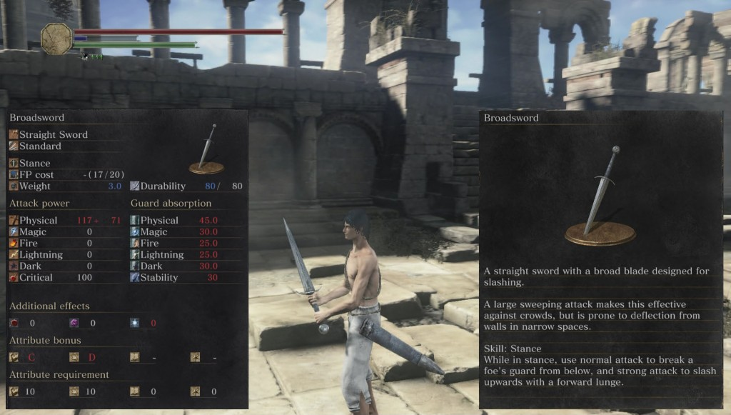 Broadsword Weapon Dark Souls 3
