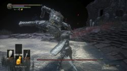 Champion Gundyr Leg Hit Dark Souls 3
