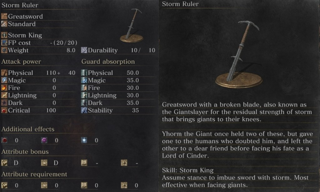 Dark Souls 3 Storm Ruler Weapon
