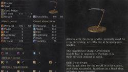 Great Scythe Weapon Dark Souls 3