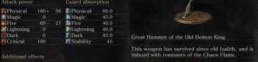 Old King's Great Hammer Dark Souls 3