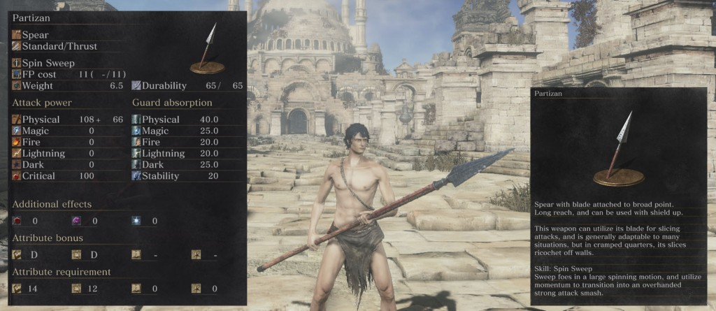 Partizan Spear Weapon Dark Souls 3