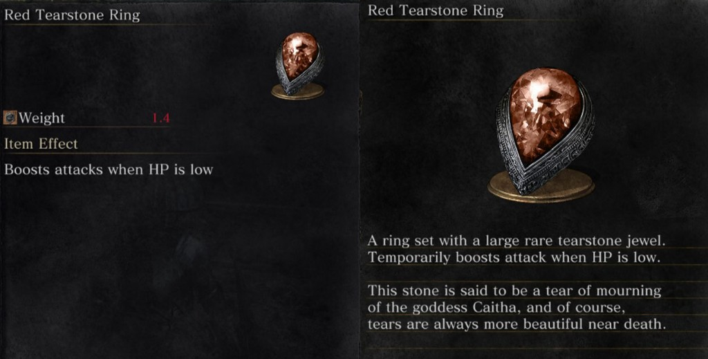 Red Tearstone Ring Descrpition Dark Souls 3