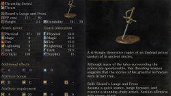 Ricard's Rapier Dark Souls 3
