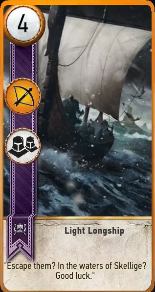 light longship gwent card