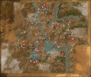 toussaint places of power locations