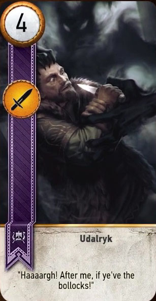 udalryk gwent card blood and wine