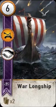 war longship gwent card blood and wine