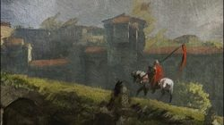 witcher 3 painting knight returning from his quest