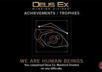 Deus Ex Mankind Divided achievements trophies