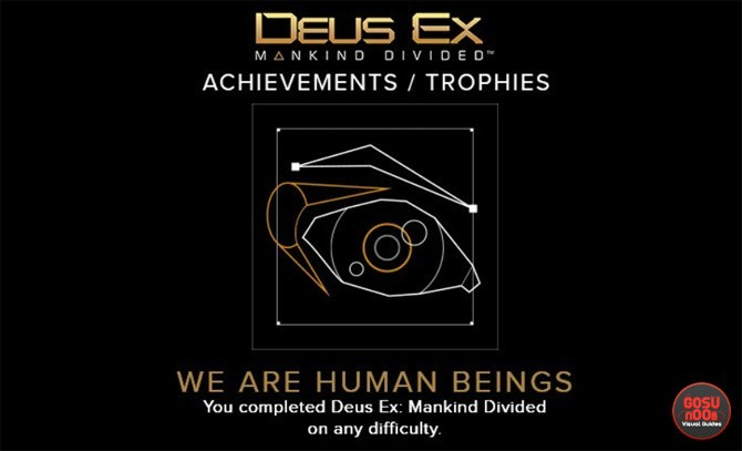 Deus Ex Mankind Divided achievements trophies