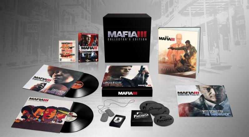 Mafia 3 Collector's Edition Goodies