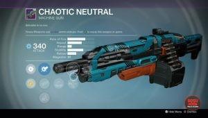 chaotic neutral legendary machine gun rise of iron