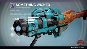 destiny something wicked rocket launcher