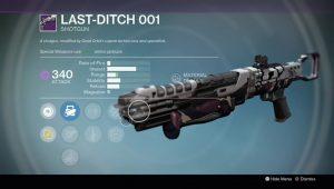 last ditch 001 legendary shotgun rise of iron