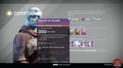 memory of jolder destiny artifact