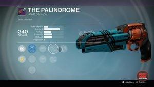 palindrome legendary handcannon rise of iron