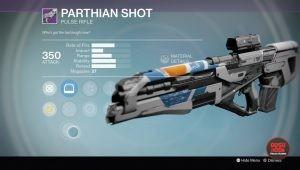parthian shot pulse rifle destiny rise of iron