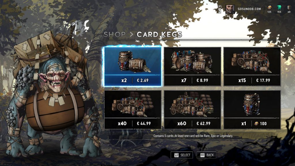Currency Guide For Gwent Closed Beta
