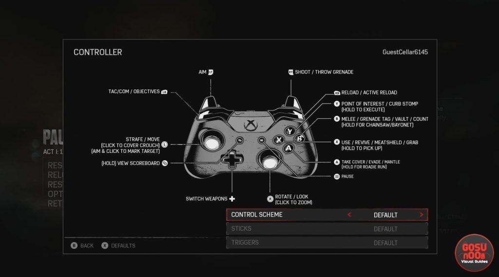 gears of war 4 controls
