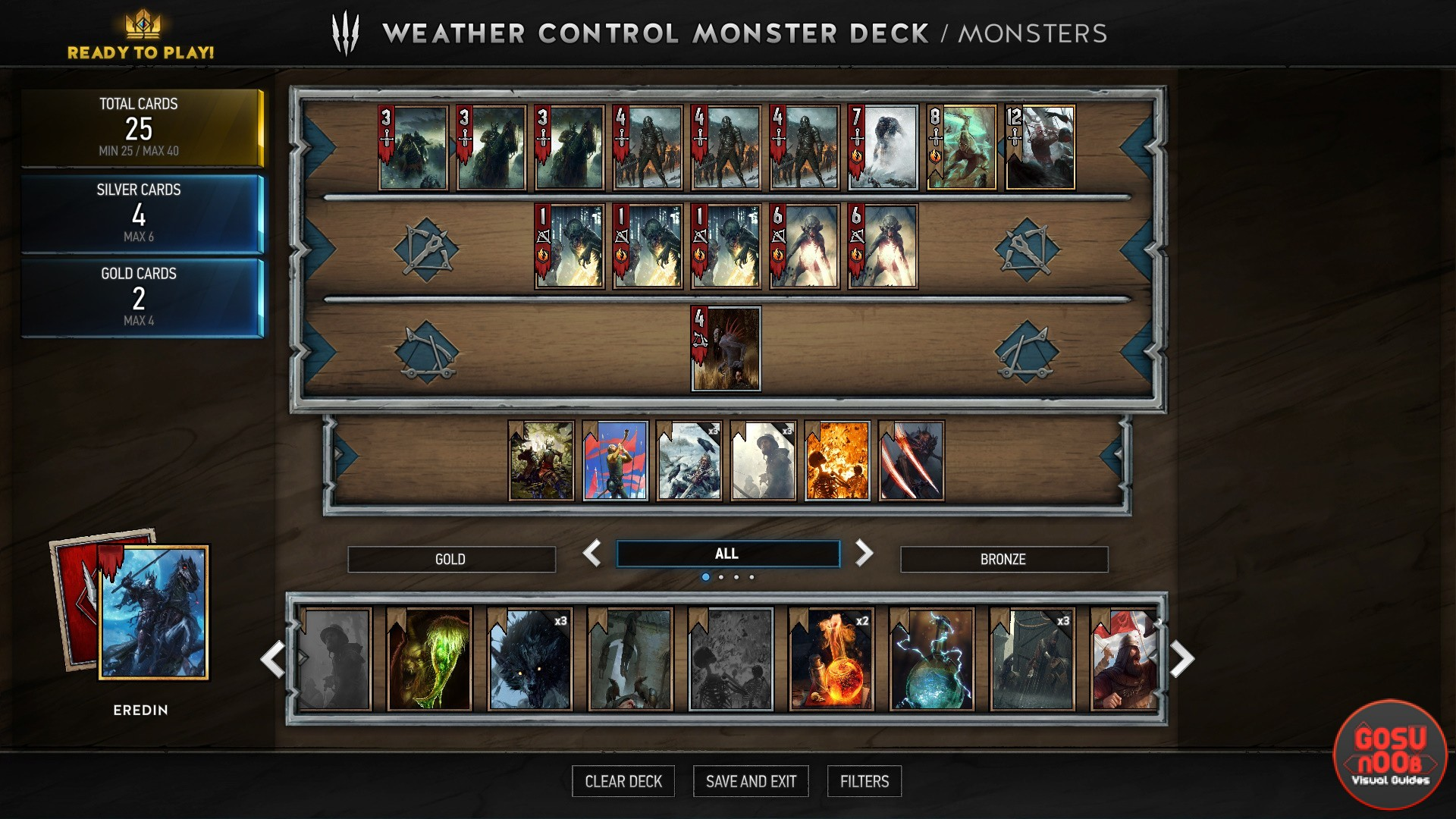 Monsters Weather Control Basic Deck Guide Gwent Gosunoob