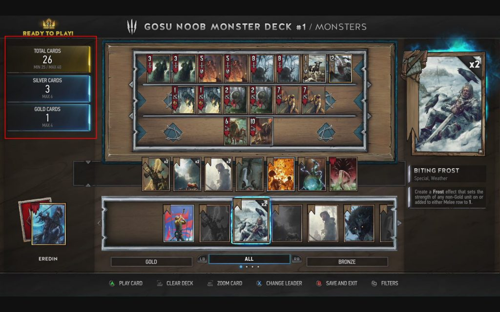 Gwent Number Of Cards Per Deck