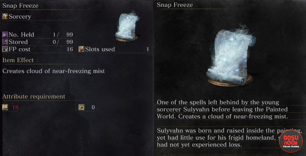 Snap Freeze Spell Dark Souls 3 Ashes of Ariandel