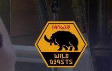 caution wild beast sticker