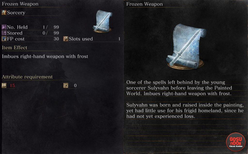 dark souls 3 frozen weapon sorcery