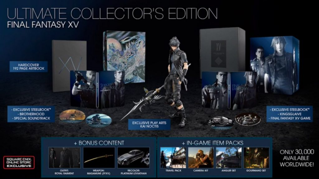 final fantasy xv preorder bonus editions