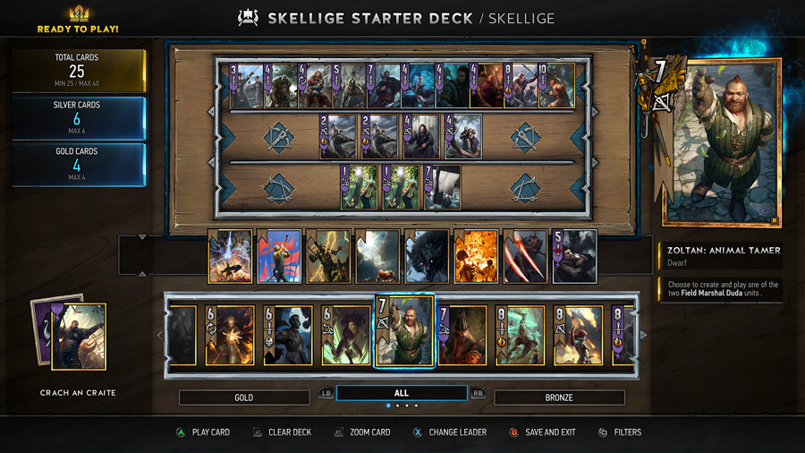 Gwent Deck Building Basic Guide