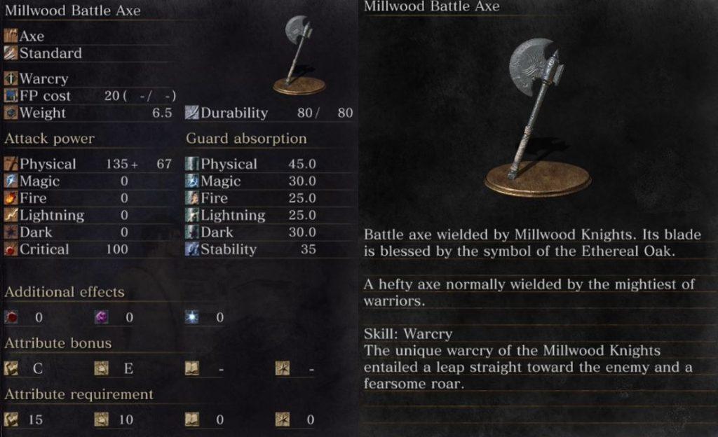 millwood battle axe