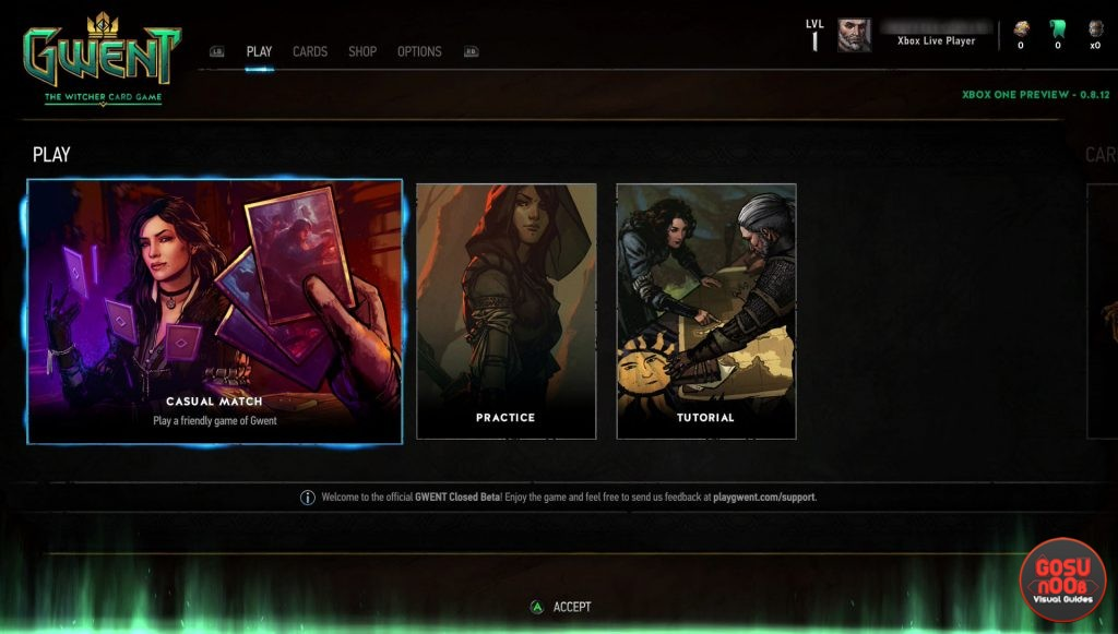 no microtransactions xbox one gwent closed beta