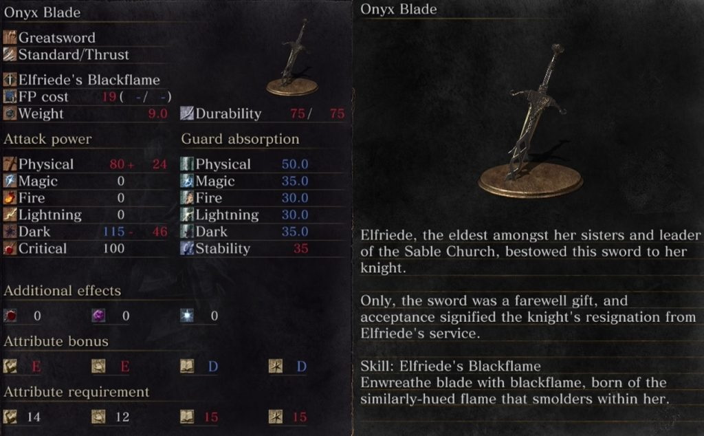 Onyx blade