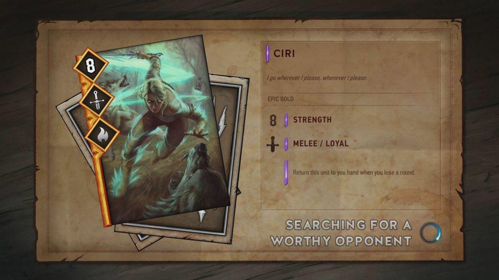 Gwent Kill The Servers 2 Ciri