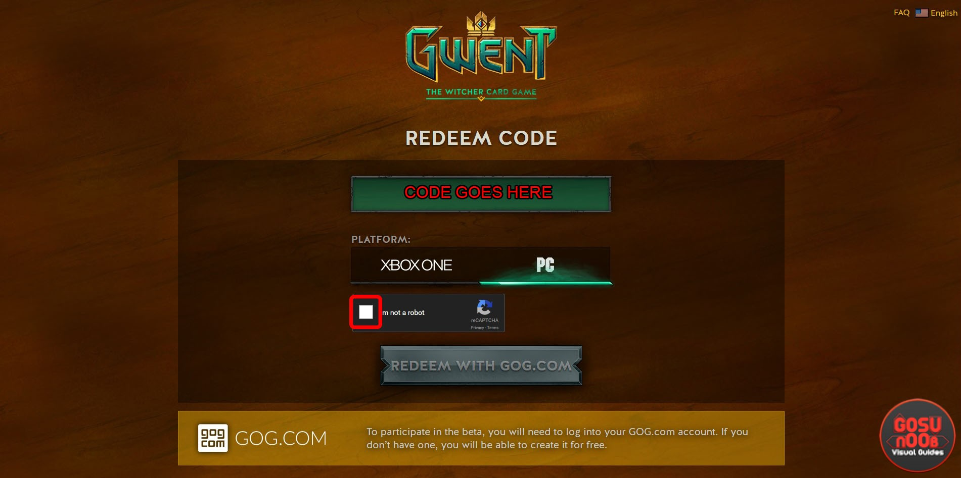 gwent downloading card collection from server