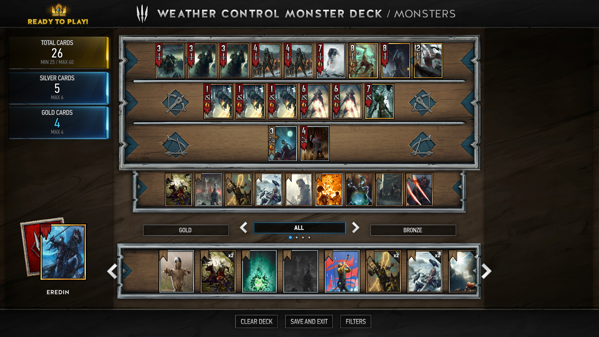 Gwent Game Deck Build