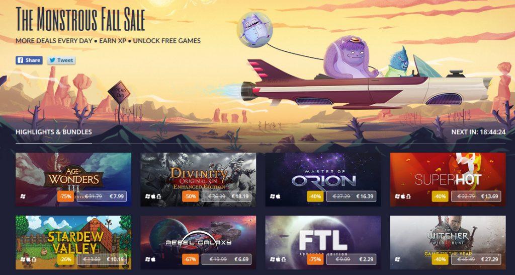 GOG.com's Monstrous Fall Sale Discounts