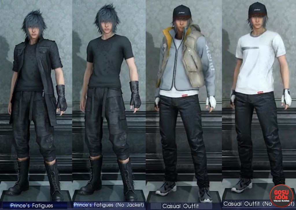noctis outfits ffxv