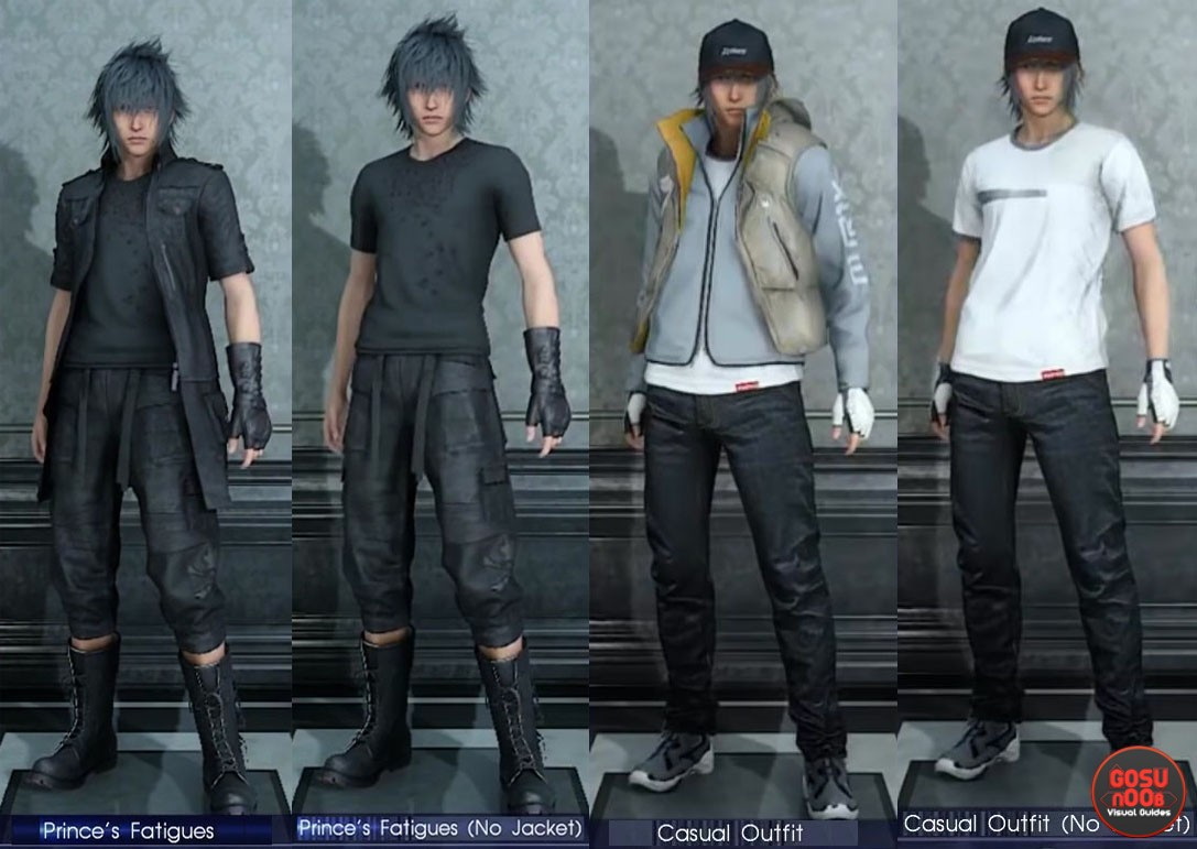 FFXV Noctis Attire / Outfit customization