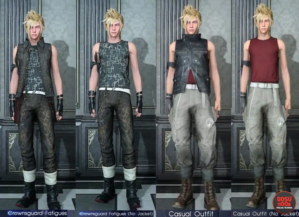 Prompto Outfits FFXV
