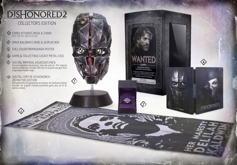 dishonored 2 preorder edition