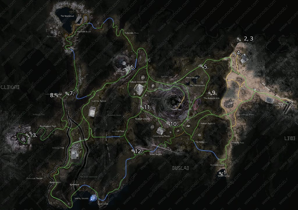 ffxv oracle ascension coin locations map v1