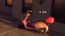 rainbow motor bike