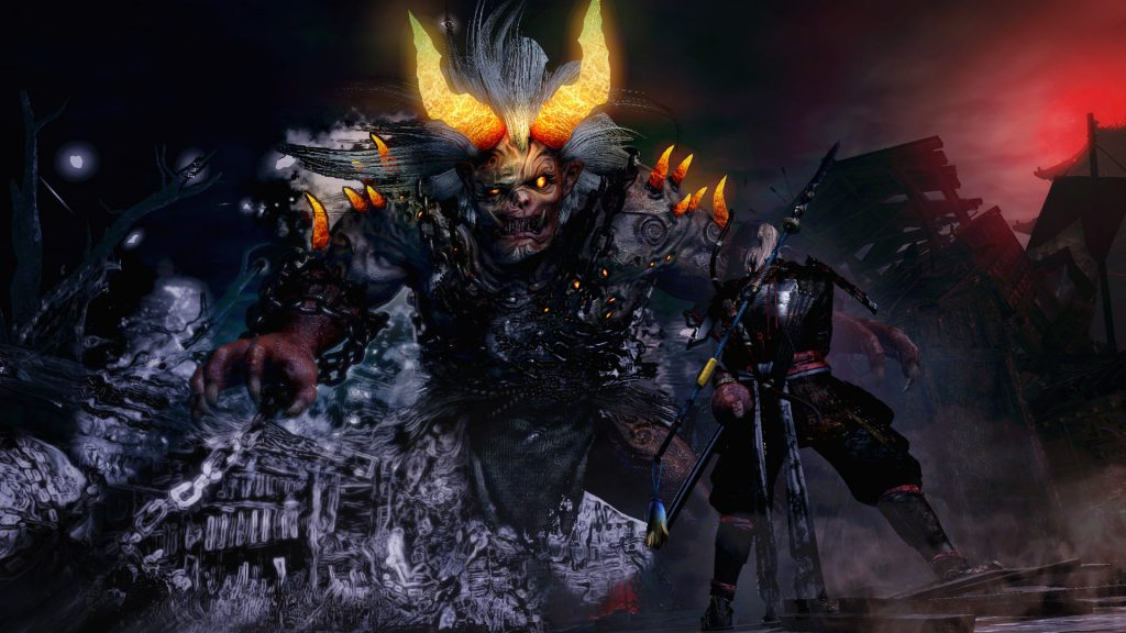 Nioh PlayStation 4 Pro Gameplay - Ogress Boss Battle