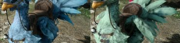 Pale Blue and Green Chocobo Secret Color FFXV