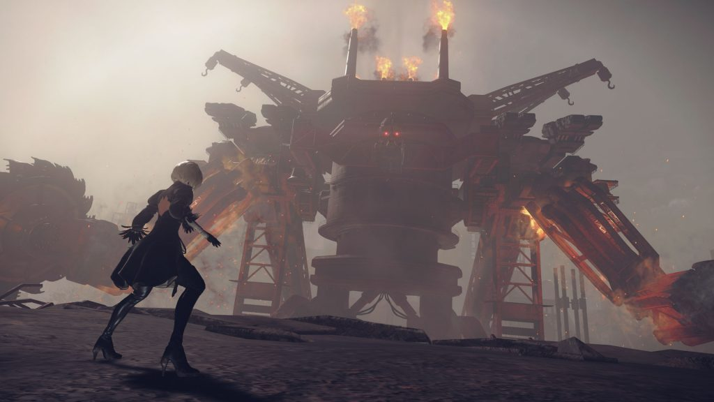 nier automata demo screenshot boss